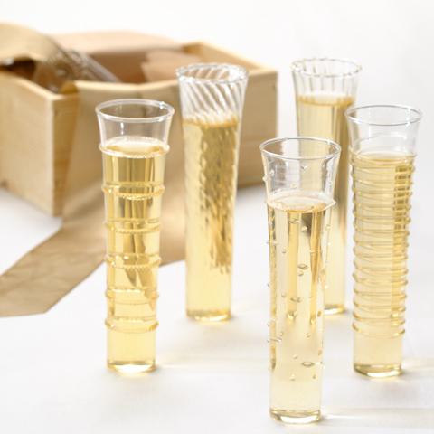 Why not use these as your toasting flutes at your wedding