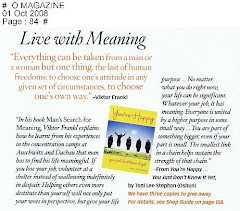 Excerpt in Oprah Magazine
