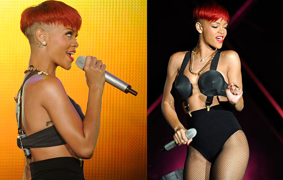 pictures of rihanna with long red hair. Rihanna debuted a new