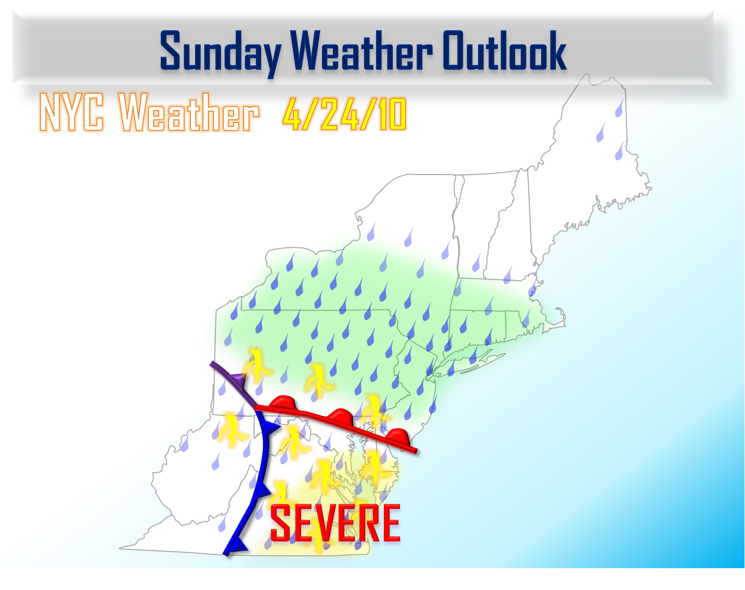 April 24 Storm Update Long Range Warmth NYC Area Weather