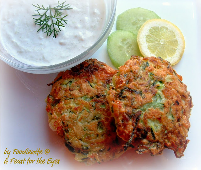 A Feast for the Eyes: Greek Zucchini Fritters ...