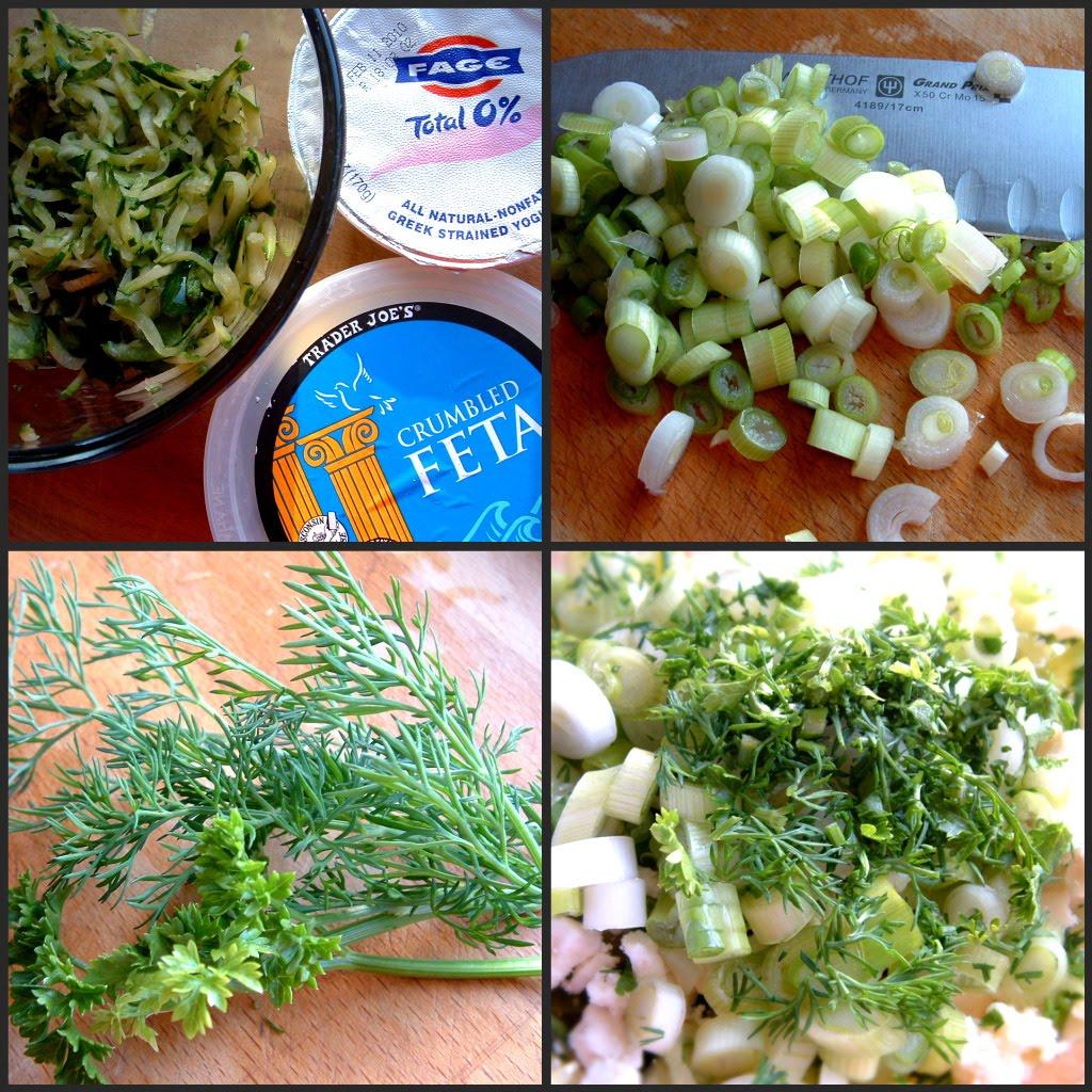 ... : Greek Zucchini Fritters – Kolokithokeftedes with Tzatziki Sauce