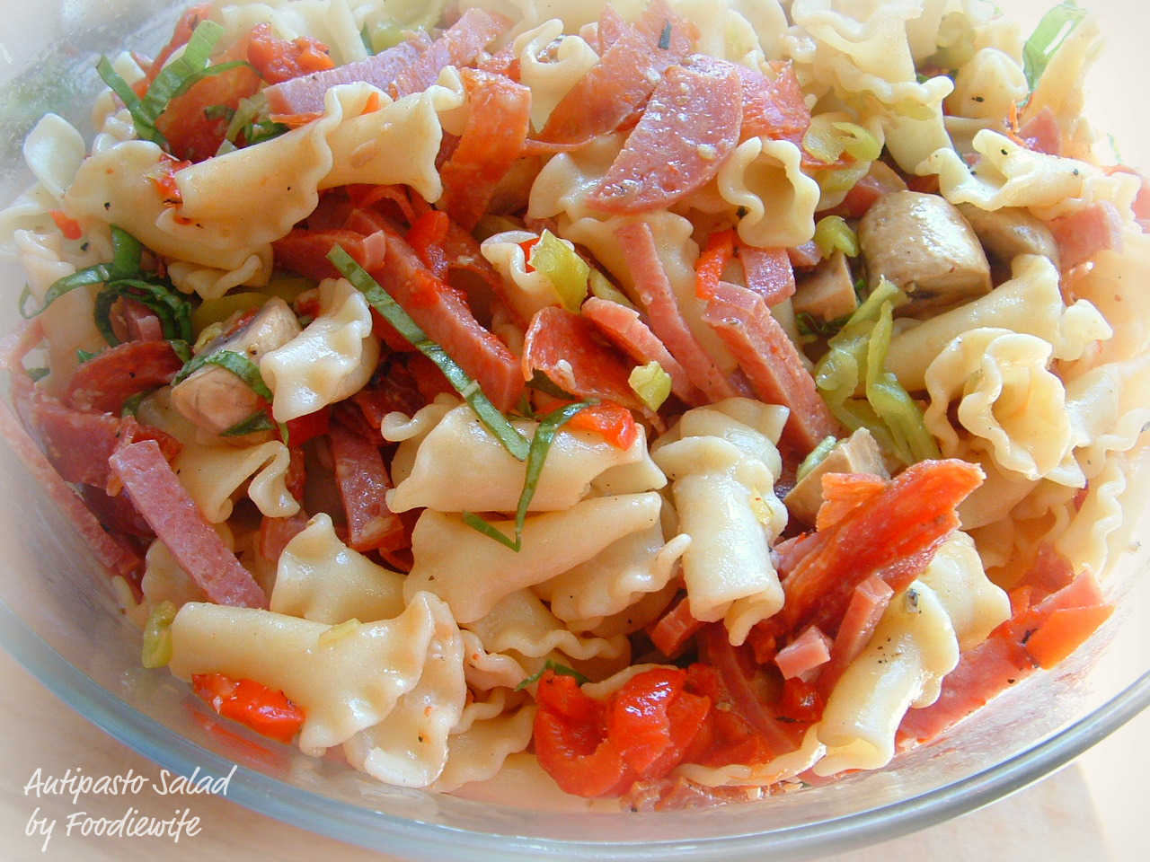 A Feast for the Eyes: Antipasto Pasta Salad, America's ...