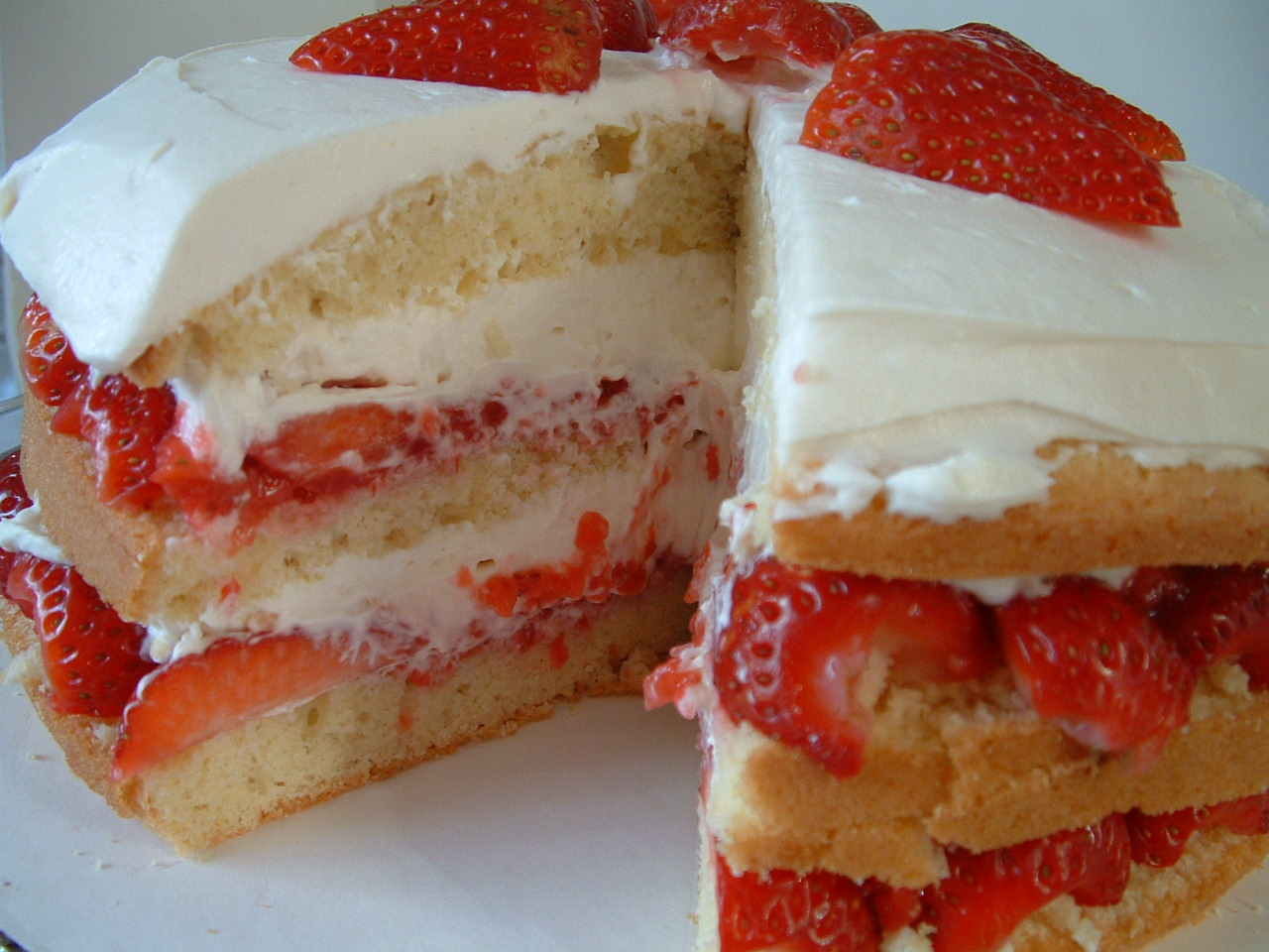 Beautiful, Creamy Strawberry Cream Cake, from America's Test Kitchen ...