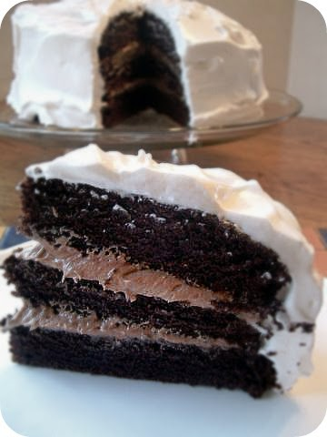 a feast for the eyes chocolate bliss cake with fluffy. Black Bedroom Furniture Sets. Home Design Ideas