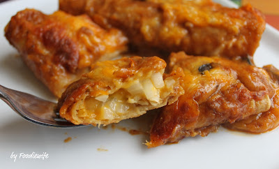 ... Feast for the Eyes: Cheese & Onion Enchiladas with Tex-Mex Chili Gravy