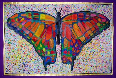Gallery2404 assembly of our butterfly mural for Butterfly mural