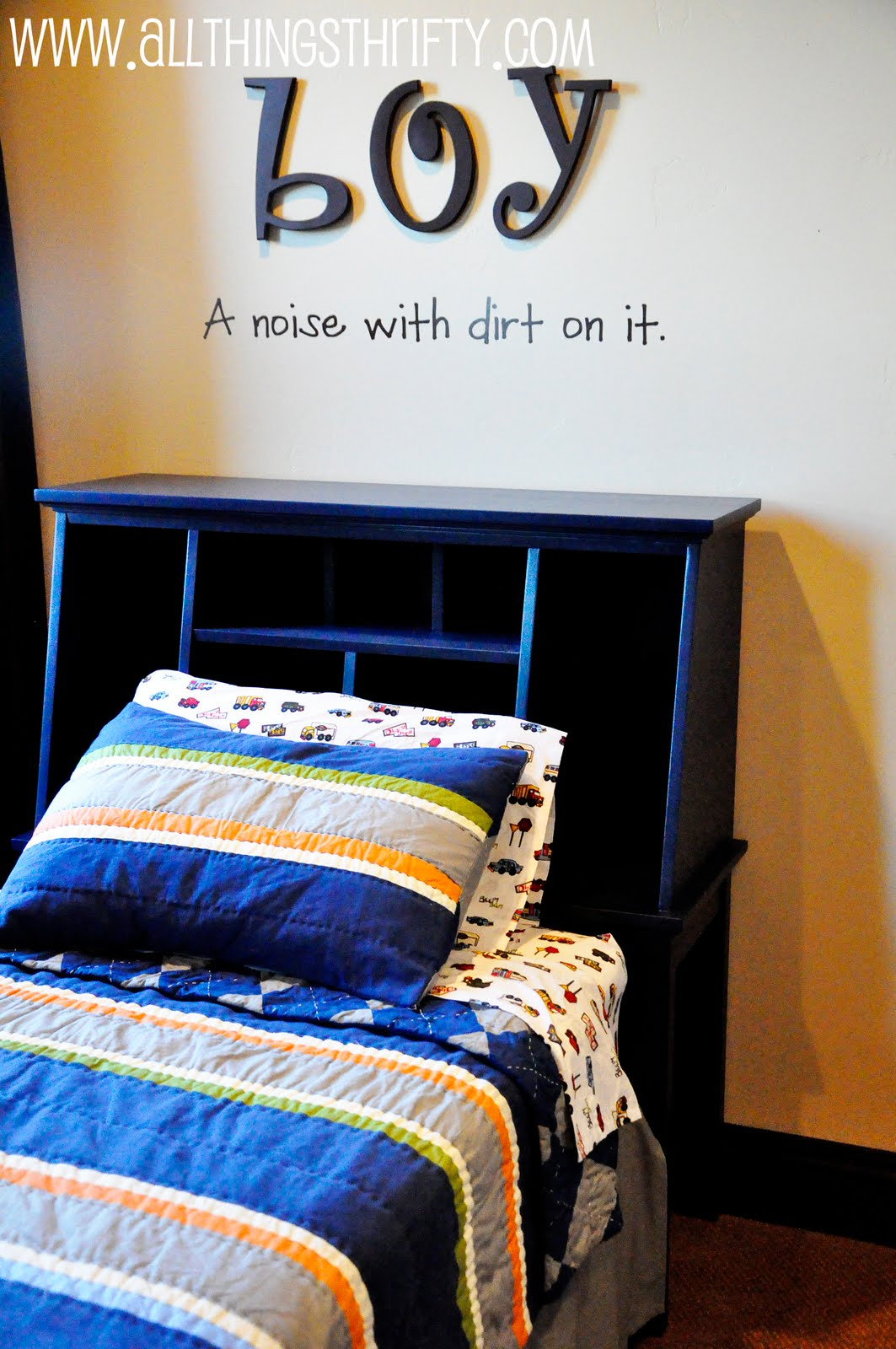 little boys room headboard transformation. Black Bedroom Furniture Sets. Home Design Ideas