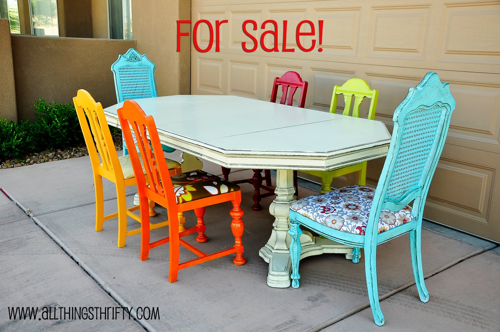 Dining room table transformation - Colorful dining room tables ...