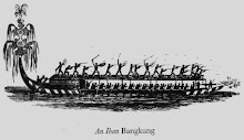 The Dayak Iban War Paddle Long Boat