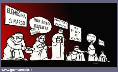 Elemosina social card Gava satira vignette