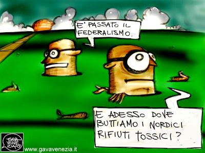 Rifiuti tossici Gava satira vignette