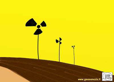 Energie rinnovabili pale eoliche Berlusconi Gava satira vignette
