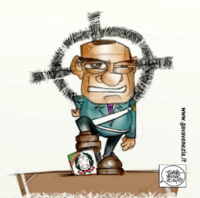 Berlusconi polizia Gava satira vignette