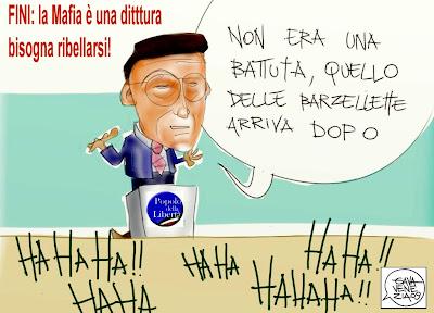 Fini barzellette Berlusconi Gava satira vignette