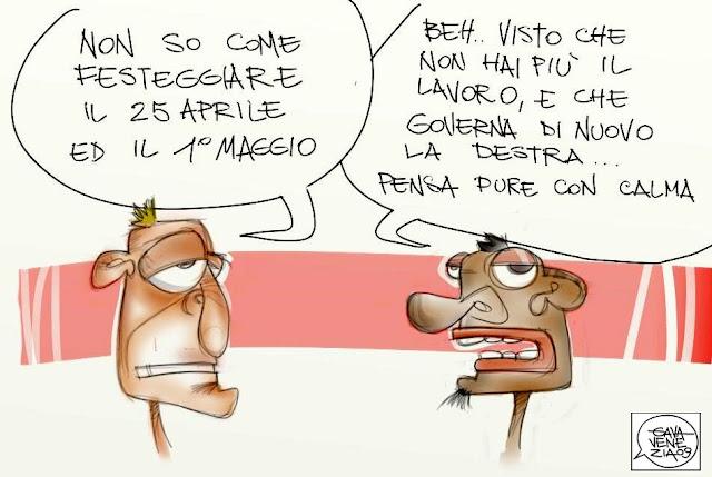 Gava Satira gavavenezia gavavenezia.it lavoro licenziamento destra Berlusconi