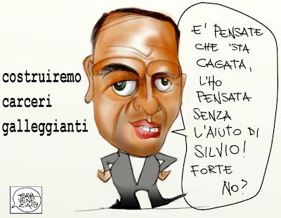 Angelino Alfano Carcere Gava satira vignette