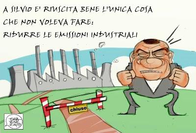 Emissioni industriali Berlusconi Gava satira vignette