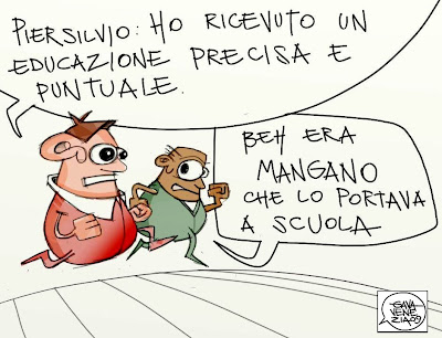Berlusconi Piersilvio Gava satira vignette