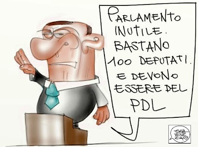 Gava satira vignette fascismo duce parlamento
