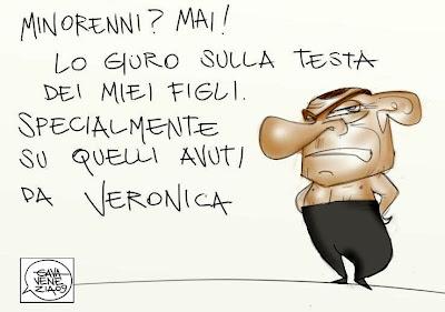 Minorenni Berlusconi Noemi Gava satira vignette