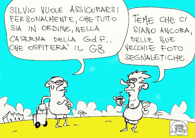 Gava satira vignette Berlusconi Guardia di Finanza GdF