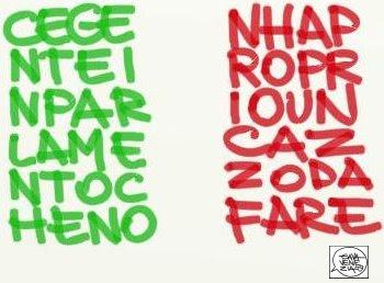 Gava Satira Vignette tricolore Lega