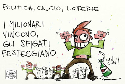 Gava Satira Vignette Lotteria milionari