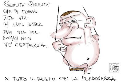 Gava Satira Vignette Lorenzo il Magnifico, Berlusconi, Papi nel doman non v'è certezza perdonanza