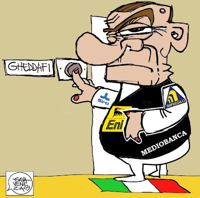 Gava Satira Vignette Gheddafi Berlusconi