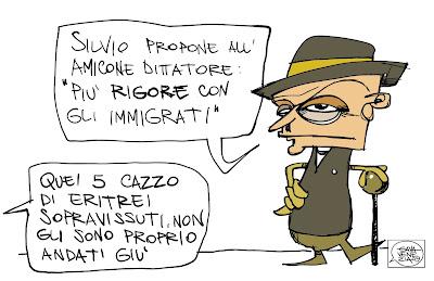 Gava Satira Vignette Berlusconi Gheddafi gavavenezia.it