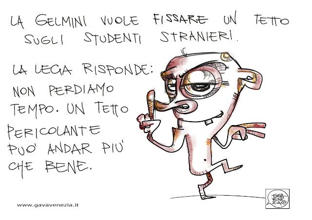 Gava Satira Vignette studenti stranieri Lega Nord