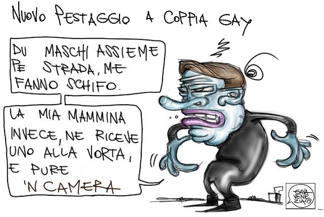 Gava Satira Vignette gay violenza aggressione