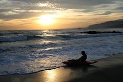 kayak-surf en la playa de el zapillo