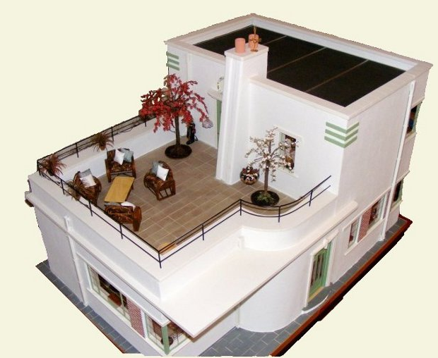 Delightful Alice Bell Wrote A Great Article On Katina Bealesu0027 Art Deco Dollhouse In  Cdhm.org (Custom Dolls, Houses, U0026 Miniatures) February 2010 Newsletter.