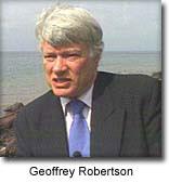 Brytyjski sedzia w ONZ G. Robertson