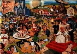 Jan Pawel na przyjeciu w Hollywoodzie