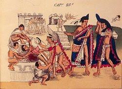 Ofiarny kult Aztekow