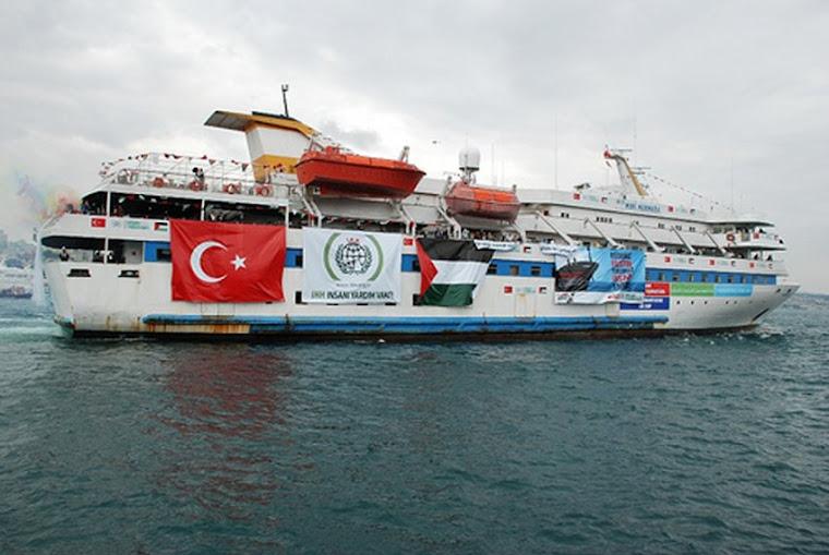 Mavi Marmara z geocentrycznym logo