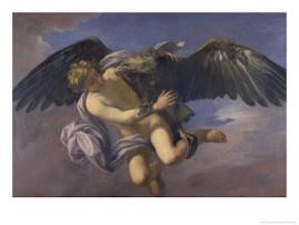 Jowisz w postaci orla porywa Ganymeda