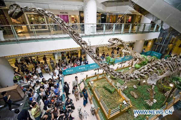 Rozne dinozaury z dluga i krotka szyja