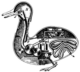 Mechanical Duck inspired by Newton's Clockwork Oranges