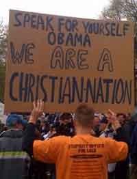 Tea Party: Jestesmy chrzescijanskim narodem.