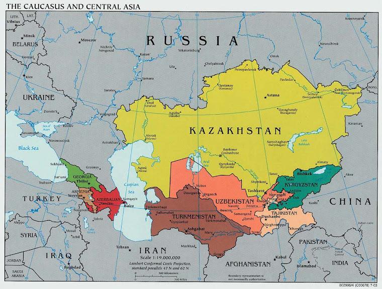Mapa Szanghajskiej Organizacji Wspolpracy