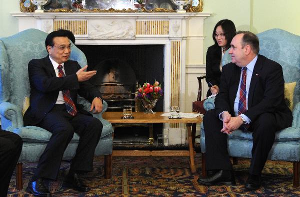 Spotkanie wice-premiera Chin Li Keqianga z pierwszym ministrem szkocji Alexem Salmondem