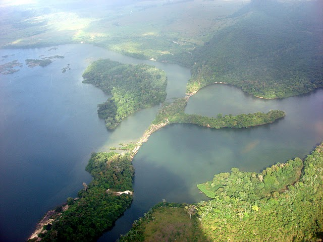 Xingu River The Amazon Rainforest:...