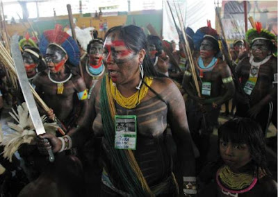 Protest by indigenous people