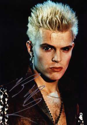 Punk Cool Blonde Haircut from Billy Idol
