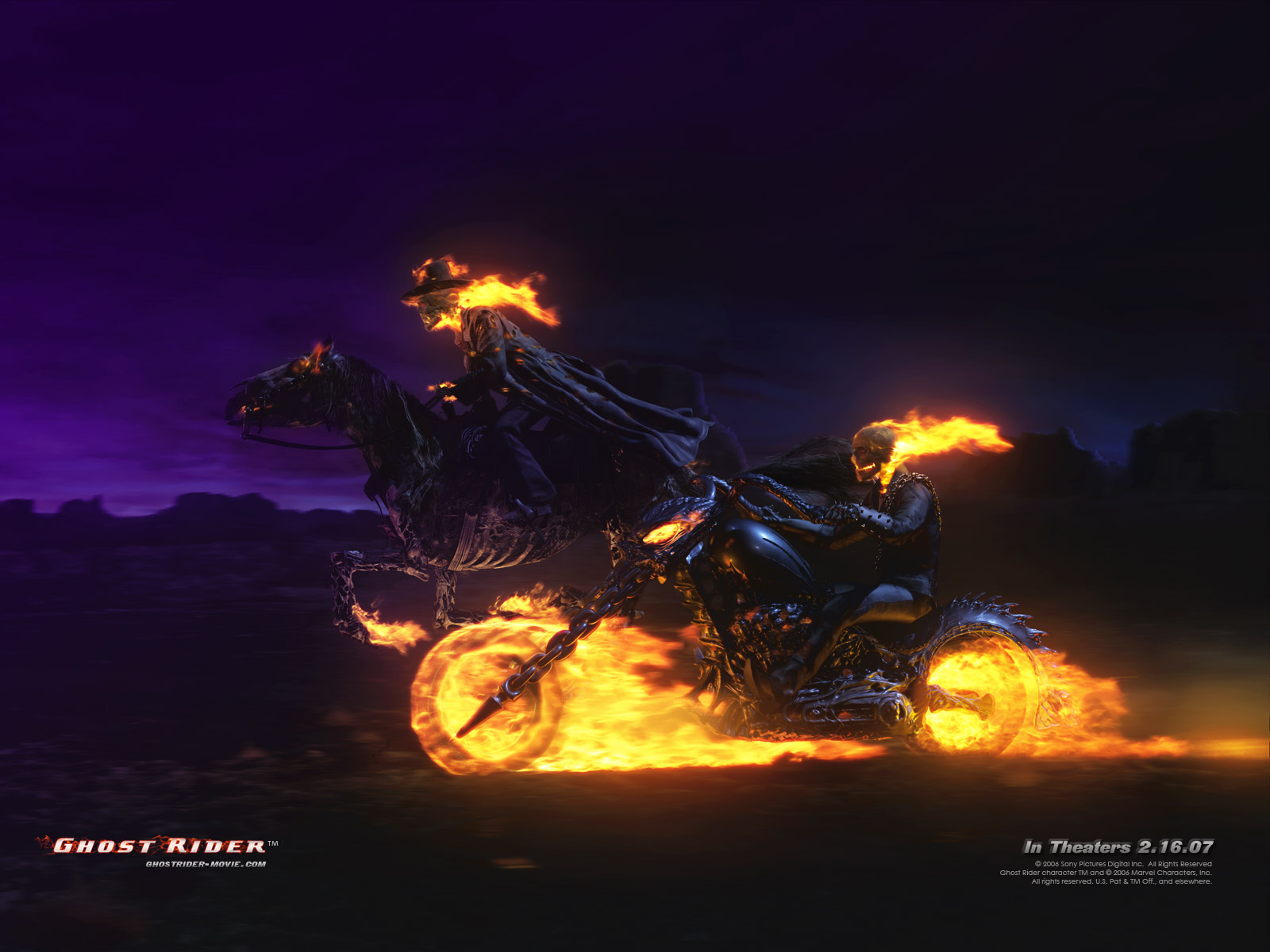 wall paper bonus ghost rider movie wallpaper