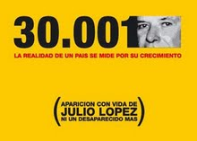 Jorge Julio López desaparecido el 18 de setiembre de 2006